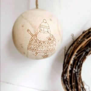 Other - Wooden SANTA ORNAMENT | carved